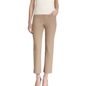 Theory Izelle Stretch Canvas Slim Cropped Pants 2